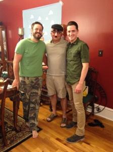 Army men and Mr. Potato Head
