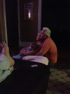 Jacs snuggling with Nana and Papaw.