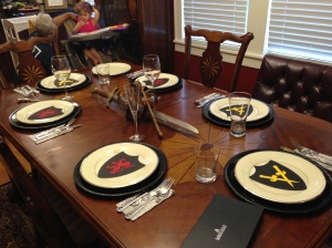Tablescape for The Sword in the Stone.
