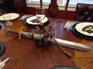 Centerpiece for The Sword in the Stone (pardon the rust).