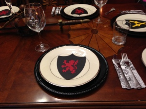 I used the red lion for the women's place settling since we are the strength of the family.