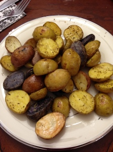 Roasted medley of potatoes.