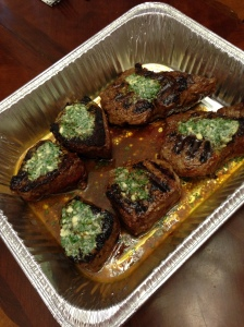 Filets with blue cheese butter, y'all!