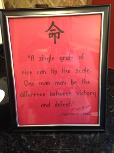 Quote from The Emperor.