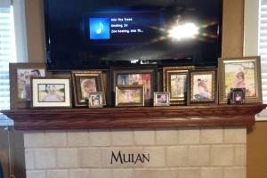The Mulan logo and Asian music on Pandora.