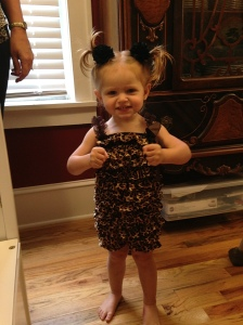 We all agreed that Jacs was the cutest in her leopard romper.