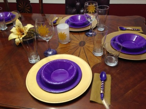 Tangled place setting.