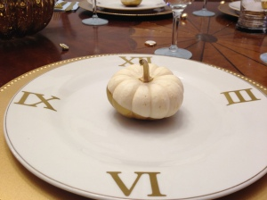 Clock place-setting.