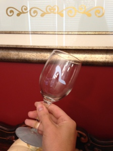 Cinderella wine glass